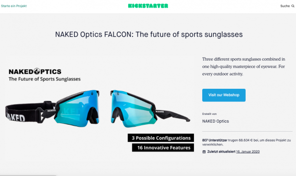 NAKED Optics – Kickstarter Kampagne