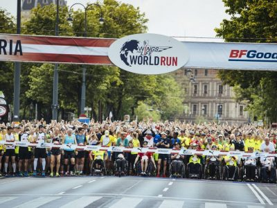 Wings for Life World Run Starterfeld hinter Startlinie